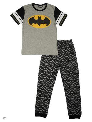 Пижама: футболка, брюки Modis. Цвет: серый, черный