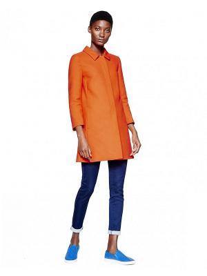 Плащ United Colors of Benetton. Цвет: оранжевый