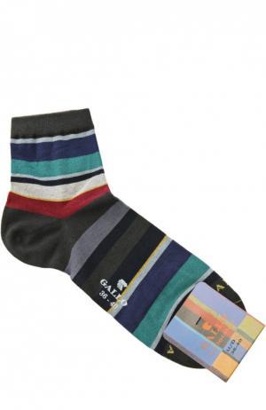 Хлопковые носки в полоску Gallo. Цвет: разноцветный