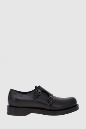 Кожаные туфли-монки Gucci. Цвет: черный