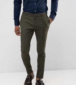 Noak Супероблегающие брюки цвета хаки. Цвет: зеленый