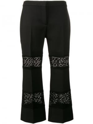 Укороченные брюки с кружевными вставками Alexander McQueen 471942QIJ0712005200