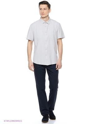 Рубашка Finn Flare. Цвет: светло-серый, кремовый, сиреневый
