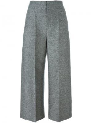 Укороченные широкие брюки Lanvin. Цвет: серый