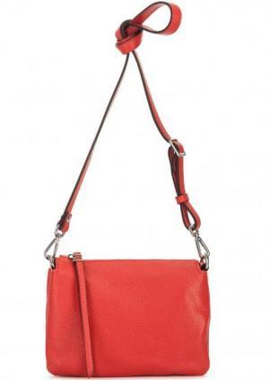 Маленькая сумка из натуральной кожи Gianni Chiarini. Цвет: красный