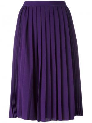 Плиссированная юбка миди Giambattista Valli. Цвет: розовый и фиолетовый