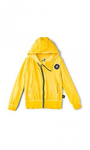 Light zip hoodie Nununu. Цвет: желтый