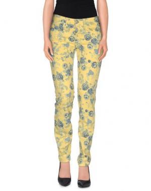 Повседневные брюки UP ★ JEANS. Цвет: желтый