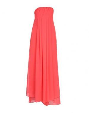 Длинное платье FRANCESCA FERRANTE. Цвет: коралловый