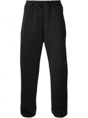 Спортивные брюки с молниями сбоку Berthold. Цвет: чёрный
