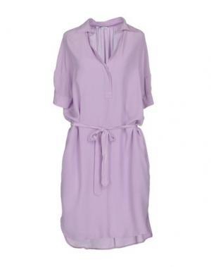Короткое платье BARBA Napoli. Цвет: сиреневый