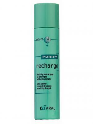 Purify Питательный спрей для всех типов волос с экстрактами бамбука Recharge 100мл. Kaaral. Цвет: светло-зеленый