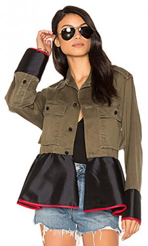 Drab field peplum jacket Harvey Faircloth. Цвет: зеленый