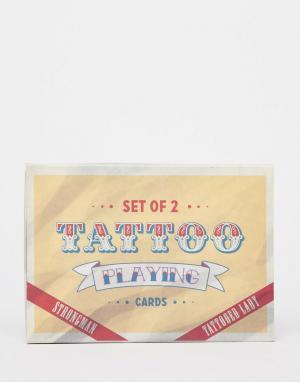 Temerity Jones Набор игральных карт с изображениями тату. Цвет: мульти