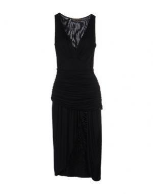 Платье до колена MARIAGRAZIA PANIZZI. Цвет: черный