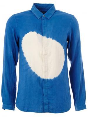 Рубашка с принтом Suzusan. Цвет: синий