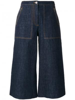 Укороченные джинсовые кюлоты Kenzo. Цвет: синий