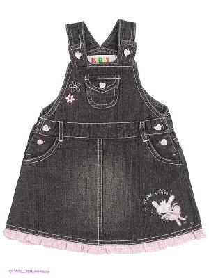 Сарафан джинсовый Kidly. Цвет: серый