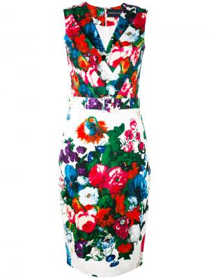 Belted floral pencil dress Samantha Sung. Цвет: чёрный