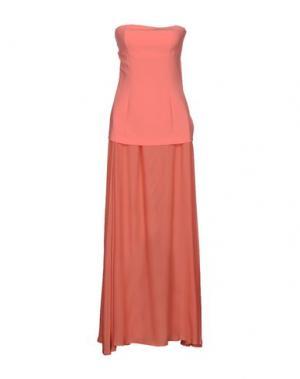 Длинное платье BLUE LES COPAINS. Цвет: лососево-розовый