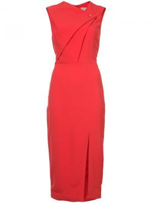 Асимметричное платье на пуговицах Jason Wu. Цвет: красный
