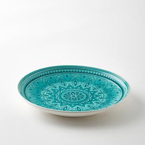 Комплект из 4 тарелок керамики Nicolosi AM.PM.. Цвет: бирюзовый,серый