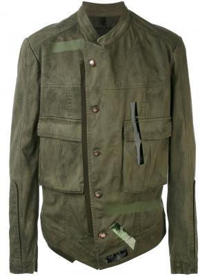 Легкая куртка Tom Rebl. Цвет: зелёный