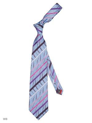 Галстук Stilmark. Цвет: голубой, лиловый, темно-фиолетовый