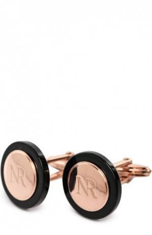 Запонки с логотипом бренда Nina Ricci. Цвет: золотой