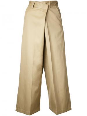 Укороченные брюки 08Sircus. Цвет: коричневый