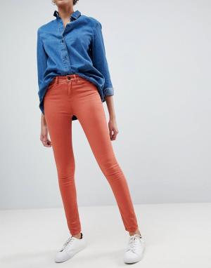 Waven Облегающие джинсы с классической талией Asa. Цвет: оранжевый