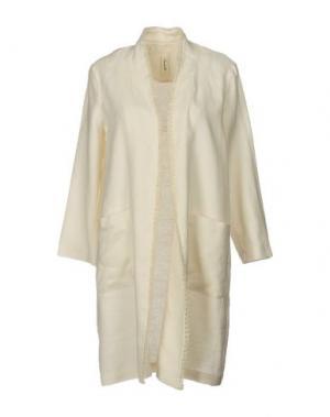 Легкое пальто SOUVENIR. Цвет: слоновая кость