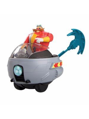 Игрушка Sonic пусковое устройство с фигуркой 7,5 см, Эгман Boom. Цвет: серебристый