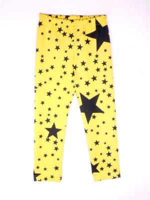 Леггинсы Зведы-Космос КОТМАРКОТ. Цвет: желтый, темно-серый