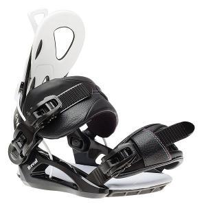 Крепления для сноуборда  B-real Bind Black GNU. Цвет: черный,белый