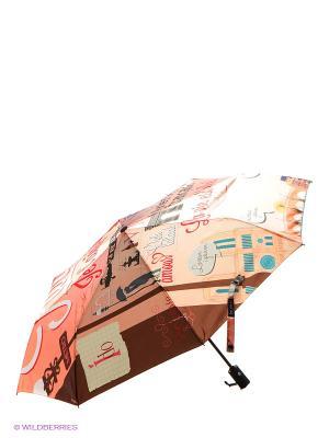 Зонт Flioraj. Цвет: бежевый, розовый, коричневый
