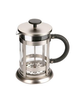 Заварочный чайник пресс-фильтр 0,8Л DEKOK. Цвет: серый