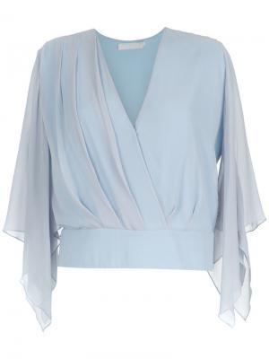 Silk blouse Giuliana Romanno. Цвет: синий