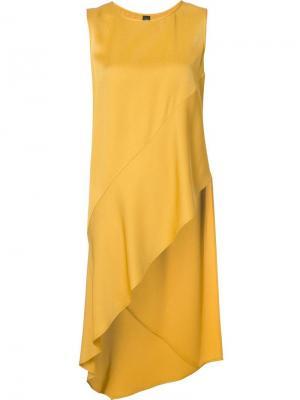 Асимметричная блузка Zero + Maria Cornejo. Цвет: жёлтый и оранжевый