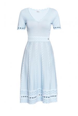 Платье из хлопка 188659 Andre Maurice. Цвет: синий