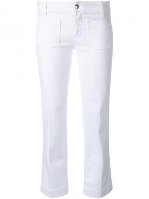 Укороченные джинсы The Seafarer. Цвет: белый