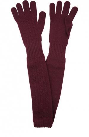 Удлиненные перчатки из кашемира Kashja` Cashmere. Цвет: бордовый