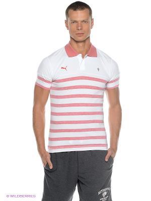 Футболка-поло AFC Polo Puma. Цвет: розовый, белый