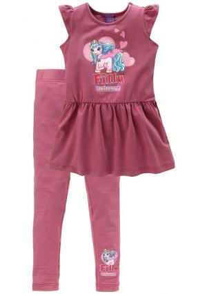 Комплект: платье и легинсы FILLY. Цвет: ягодный