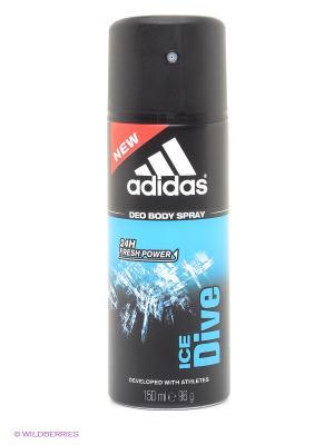 Дезодорант спрей adidas Ice Dive для мужчин 150 мл. Цвет: черный, прозрачный