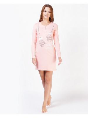 Ночная сорочка Deseo. Цвет: бледно-розовый
