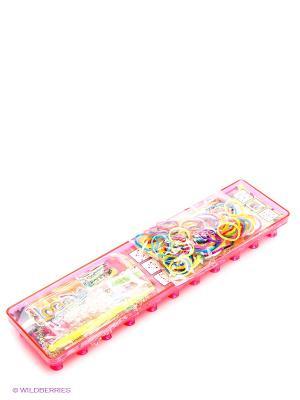 Набор для плетения браслетов из резинок Loom Twister. Цвет: розовый, желтый, черный, зеленый, салатовый, голубой, фиолетовый, красный