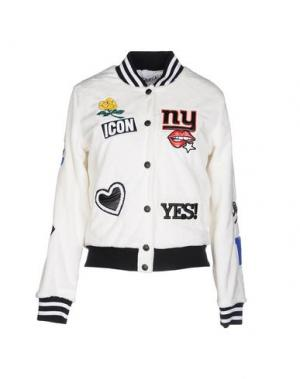 Куртка FOLLOW US. Цвет: белый