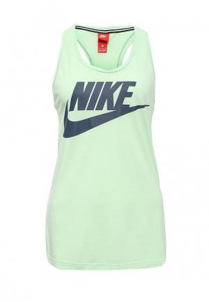 Майка Nike. Цвет: зеленый
