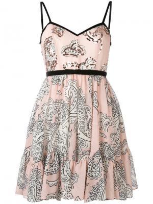 Платье с принтом пейсли Manoush. Цвет: розовый и фиолетовый